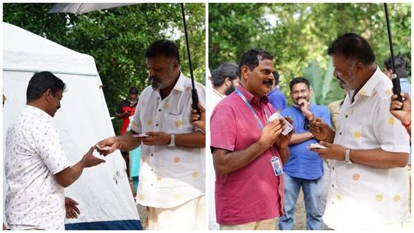 അണിയറ പ്രവർത്തകർക്ക് പാപ്പൻ്റെ കൈ നീട്ടം; സുരേഷ് ഗോപി ഷൂട്ടിങ് തിരക്കുകളിലേക്ക്