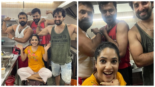 Kudumbavilakku Serial Fame Noobin Shares Funny Photos With Co-stars |  Massellians in the Family Lantern Series;  Body with muscle show of eights in the middle of the winter, photo out