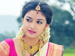 Keerthy Visits Her Grandma On The Sets Of Her Film