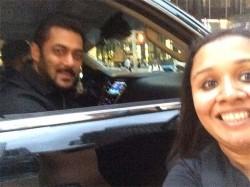 Fan Takes Selfie With Salman Khan A Moving Car