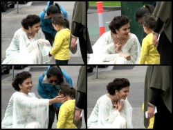 Don T Miss These Pics Aaradhya Aishwarya Rai Bachchan Hoist The Indian Flag In Melbourne