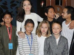 Angelina Jolie Brings Her Six Kids First They Killed My Father