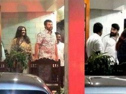 Mohanlal Visits Mammootty S House Pics Viral