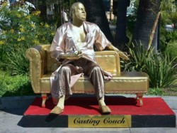 Harvey Weinstein Casting Couch Statue Appears Hollywood Ahead Of Oscar