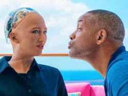 Watch Will Smith Try Romance Sophia The Robot Fail