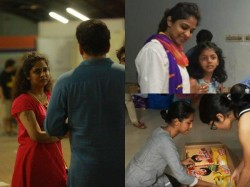 Indrajith Poornima Daughters Active Pariticipation In Anpodu Kochi