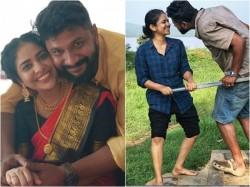 Actress Srinda S Latest Photos With Husband