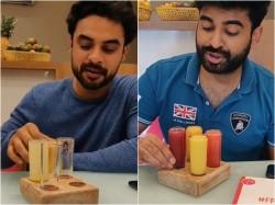 Tovino Rajisha Niranjana Drinking Juices From Fruit Bae