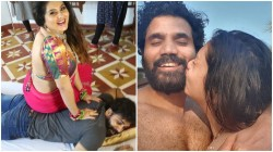 Pulimurugan Actress Namitha Celebrated First Time Meeting Anniversary With Veerendra Chowdary