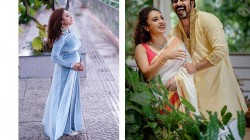 Bigg Boss Fame Pearle Maaney Looks Radiant In Blue Dress As She Flaunts Her Baby Bump