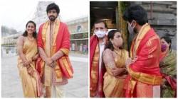 Niharika Konidela Shares Thirupathi Pic With Husband Chaitanya And Family